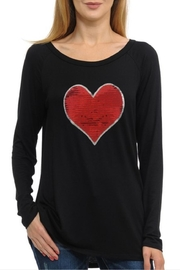 social light  Sequin Heart Valentine's-Day-Top - Product Mini Image
