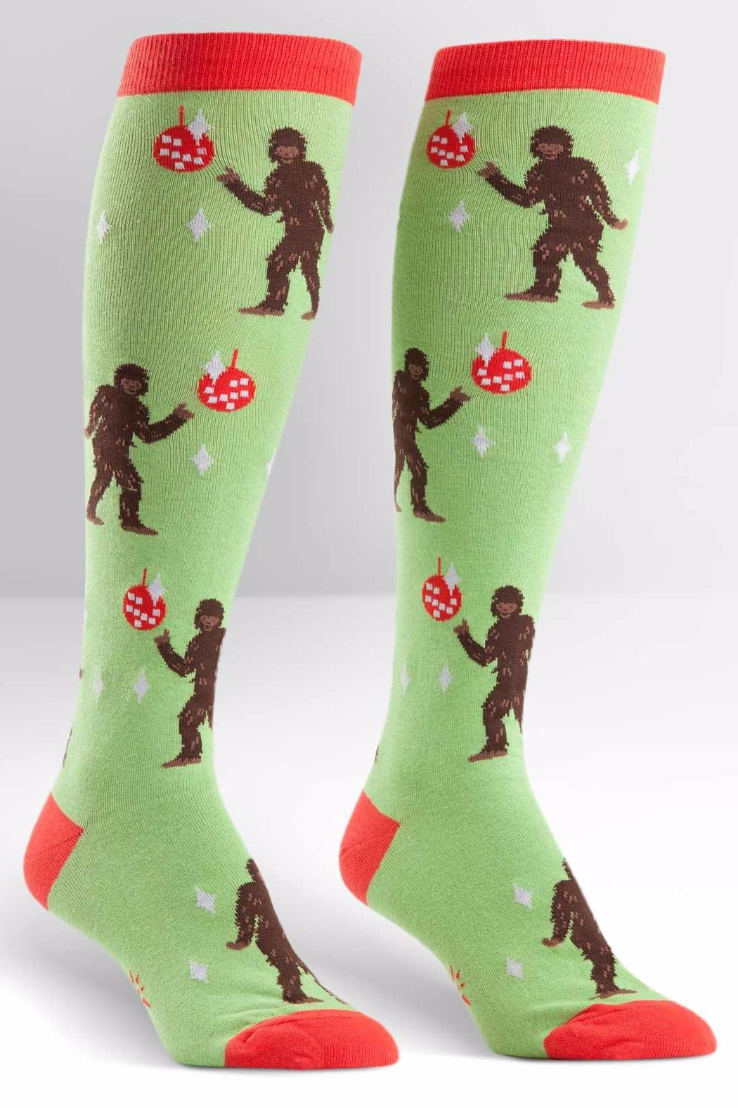 Sock it to me Disco Bigfoot Knee Socks - Main Image