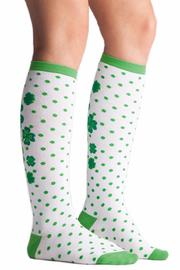 Sock it to me Lucky Clover Socks - Front full body