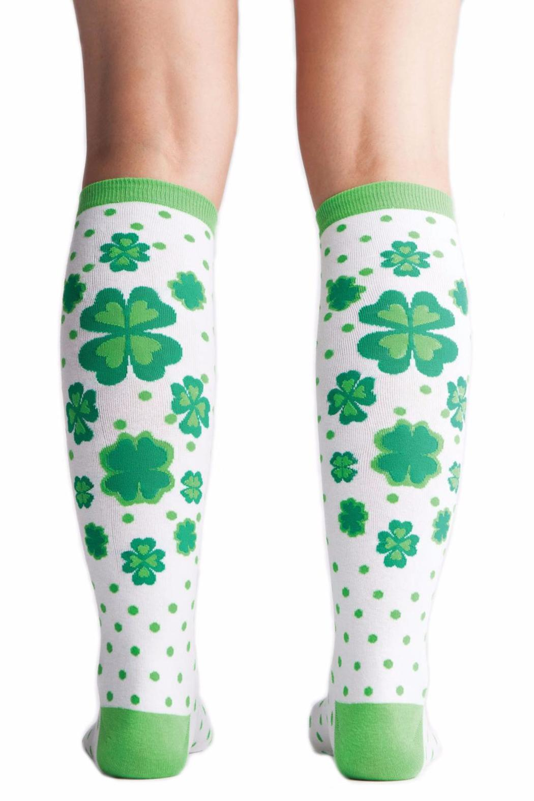 Sock it to me Lucky Clover Socks - Front Cropped Image