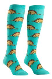 Sock it to me Tacosaurus Knee Socks - Front cropped