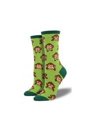 Socksmith Women's Monkey Socks - Front full body