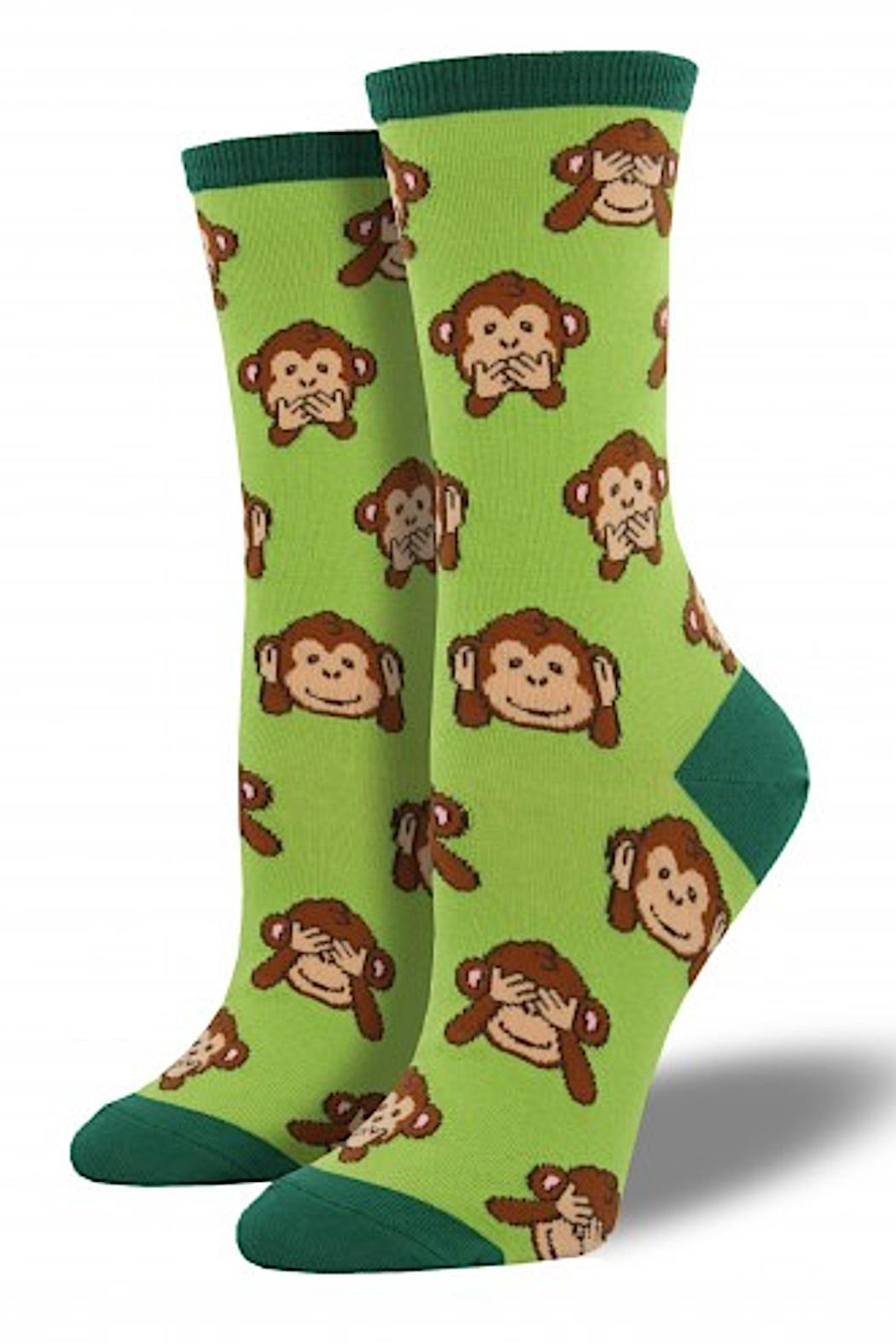 Socksmith Women's Monkey Socks - Front Cropped Image