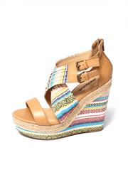 Soda Aztec Print Wedge - Front cropped