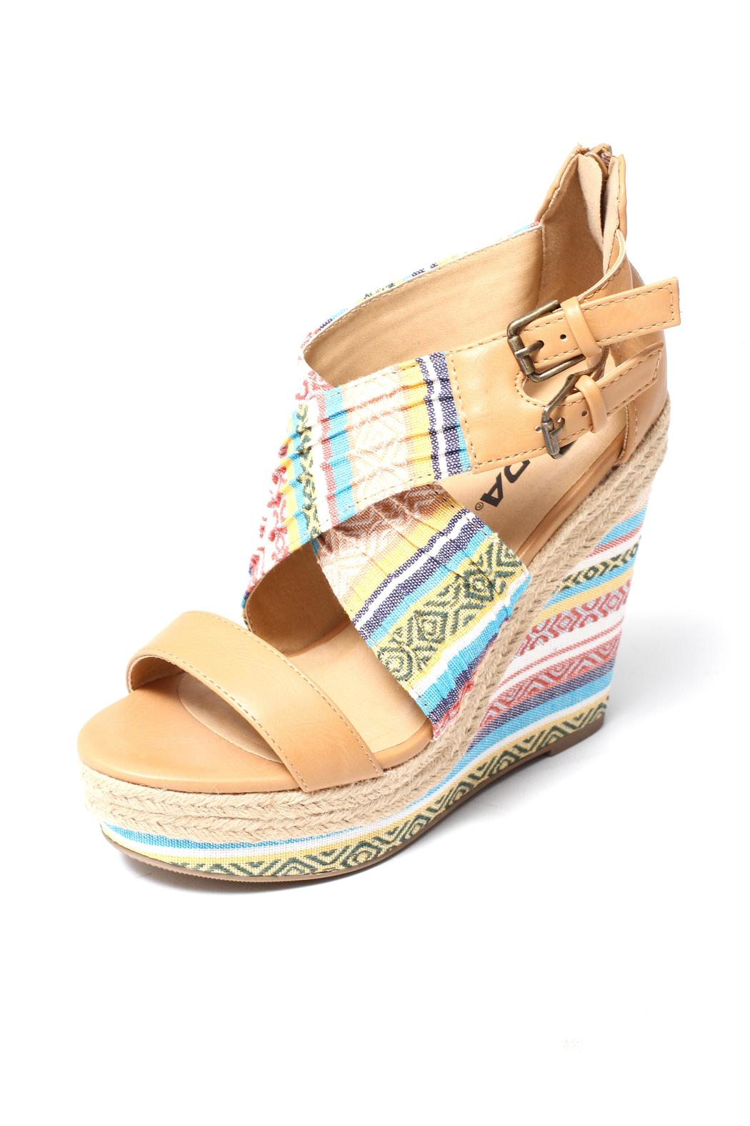 Soda Aztec Print Wedge - Front Full Image