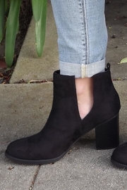 Soda Black Cut-Out Booties - Side cropped