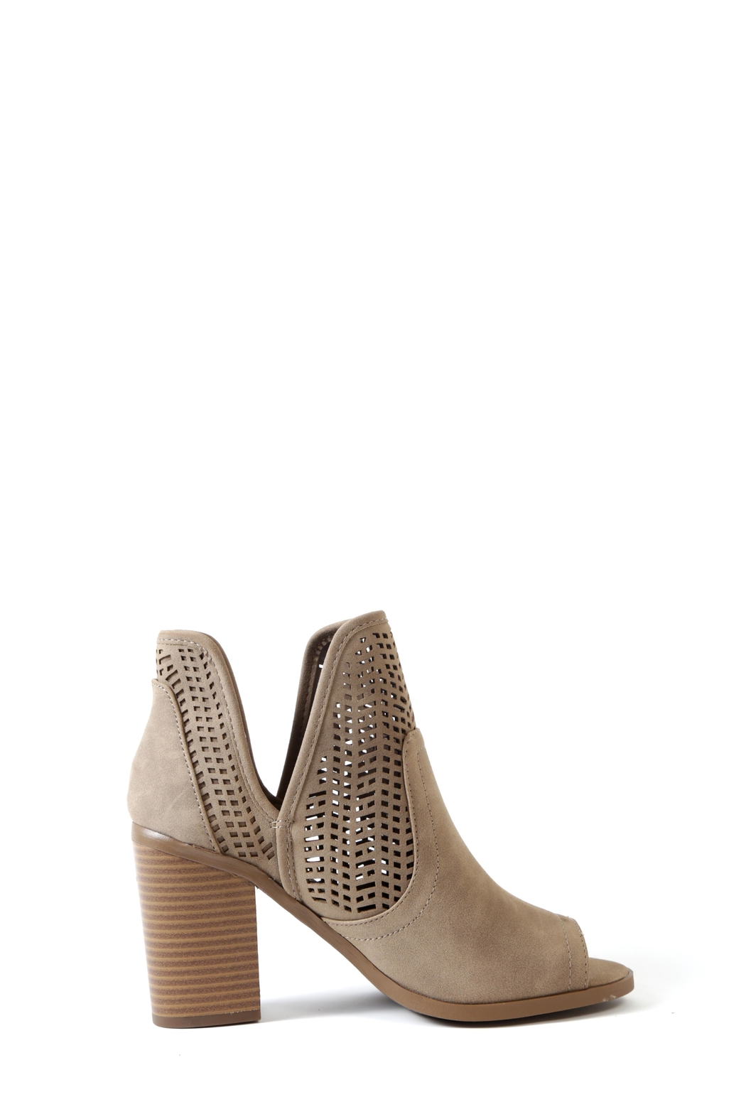 Soda Cathy Peep Toe Bootie - Side Cropped Image