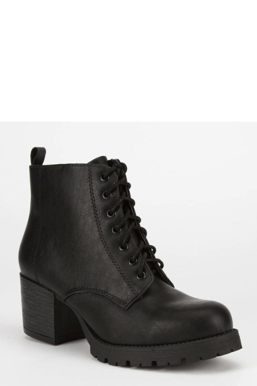 Soda Chunky Heel Combat - Side Cropped Image