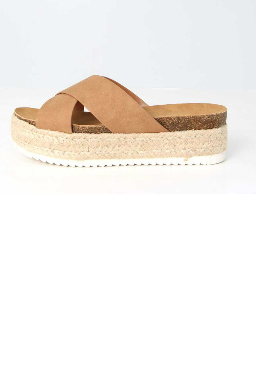 Soda Coky Espadrille Slide - Back Cropped Image