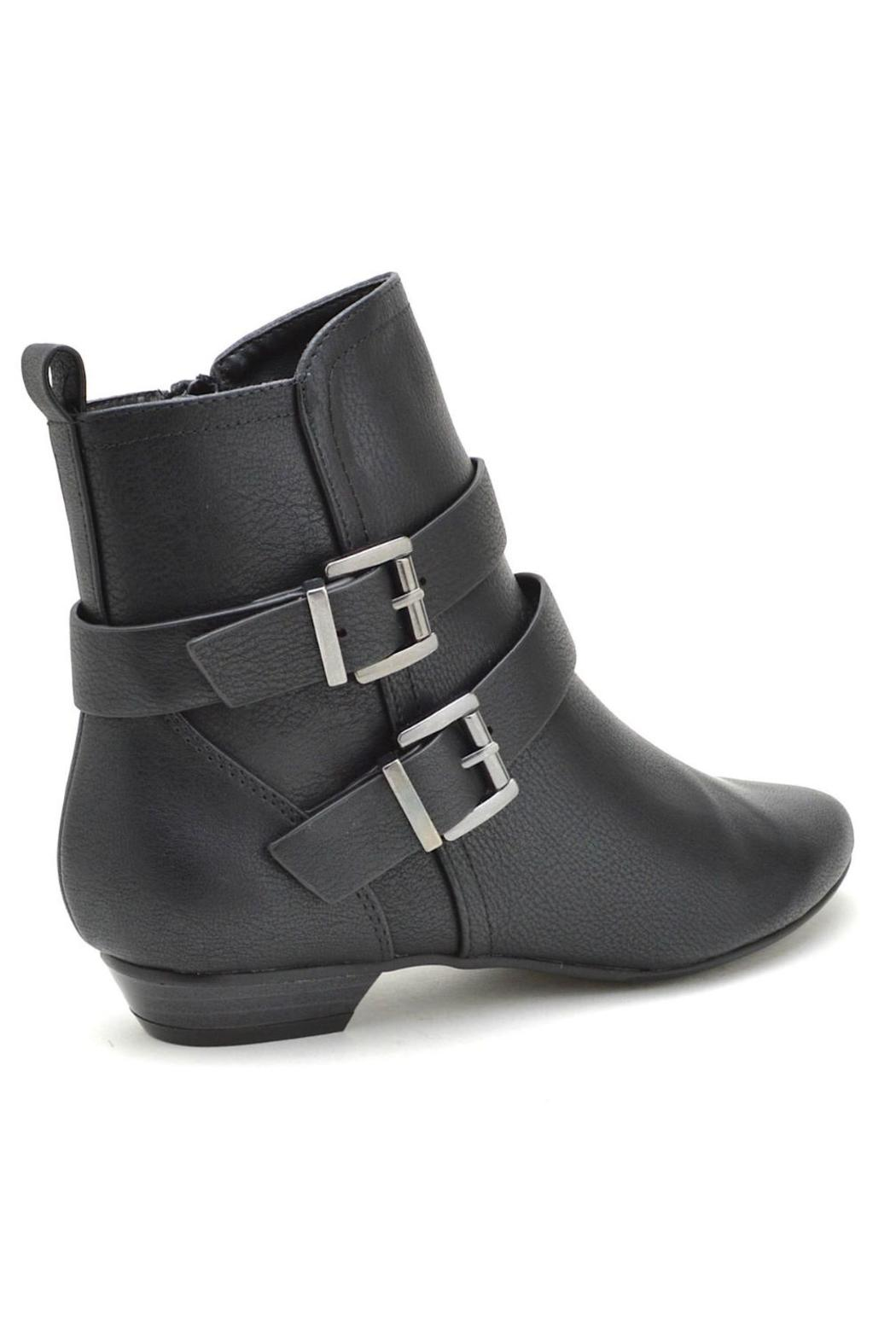 Soda Double-Belted Flat Booties - Front Full Image
