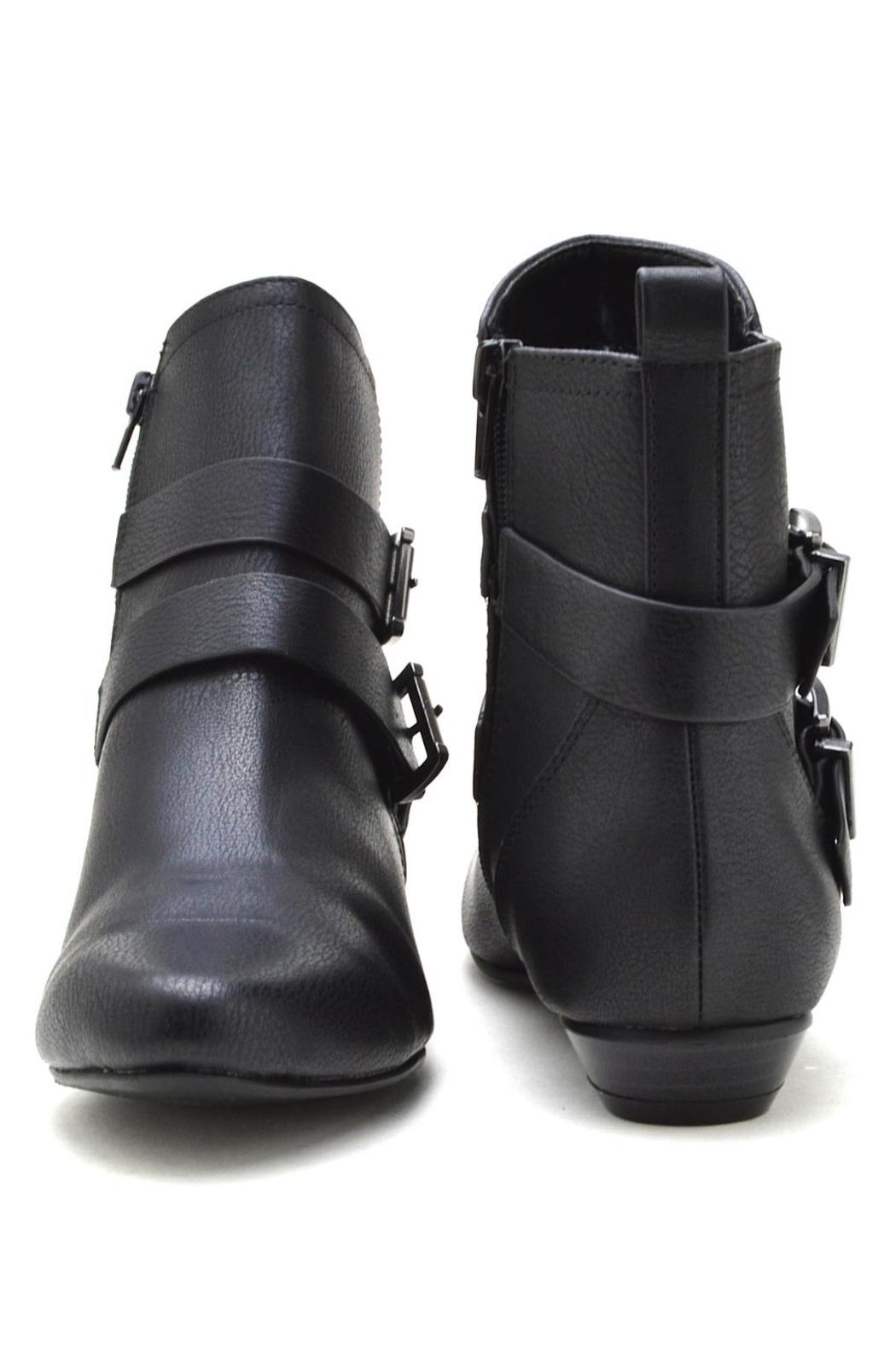 Soda Double-Belted Flat Booties - Side Cropped Image