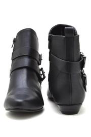 Soda Double-Belted Flat Booties - Side cropped