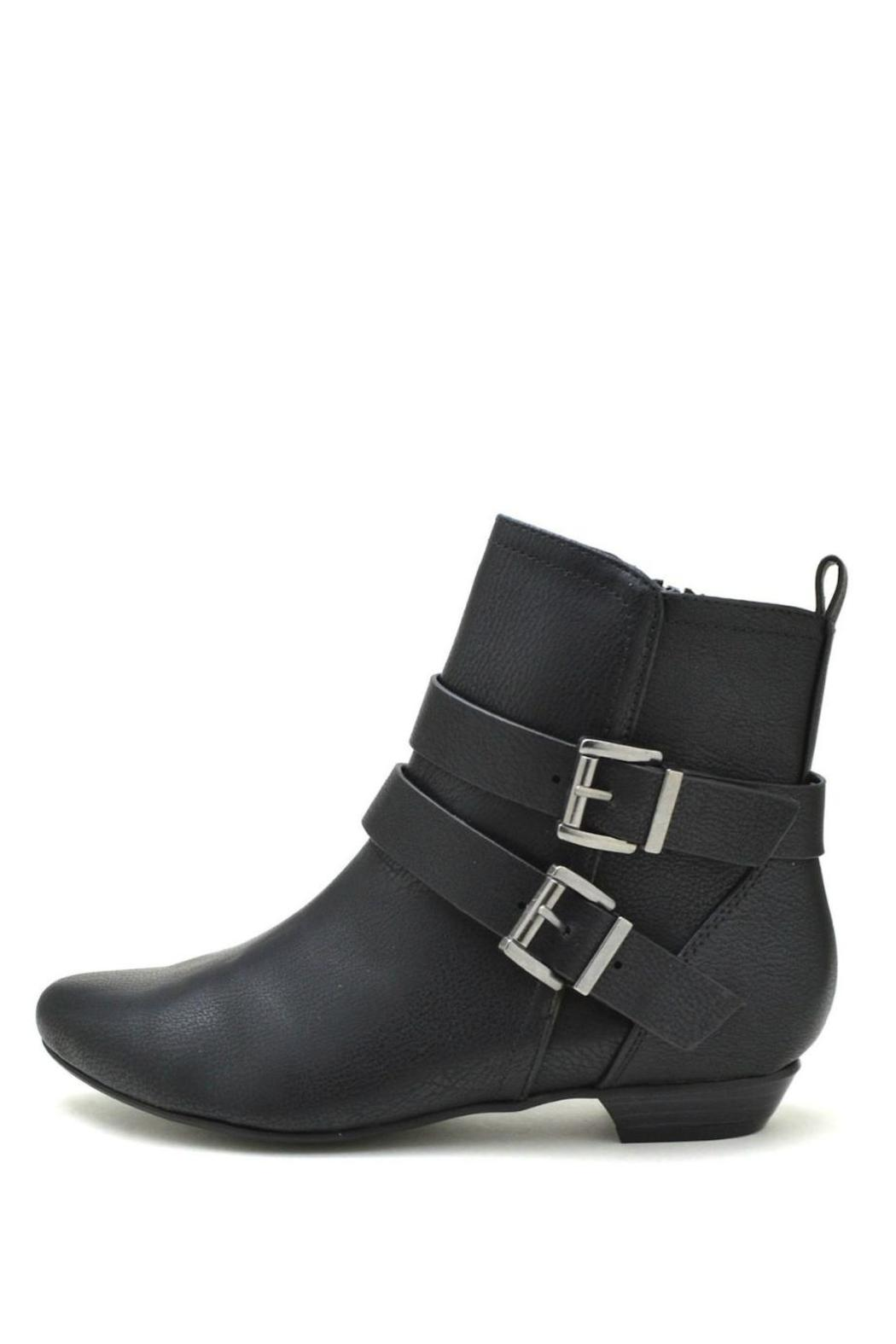 Soda Double-Belted Flat Booties - Main Image