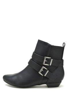 Soda Double-Belted Flat Booties - Product List Image