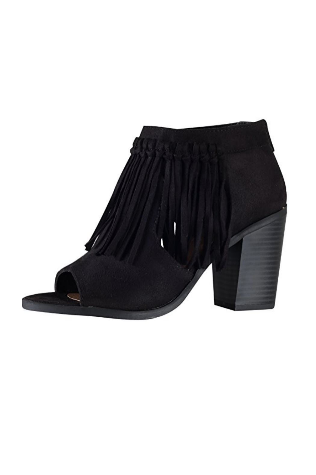 Soda Fringe Accent Booties - Main Image