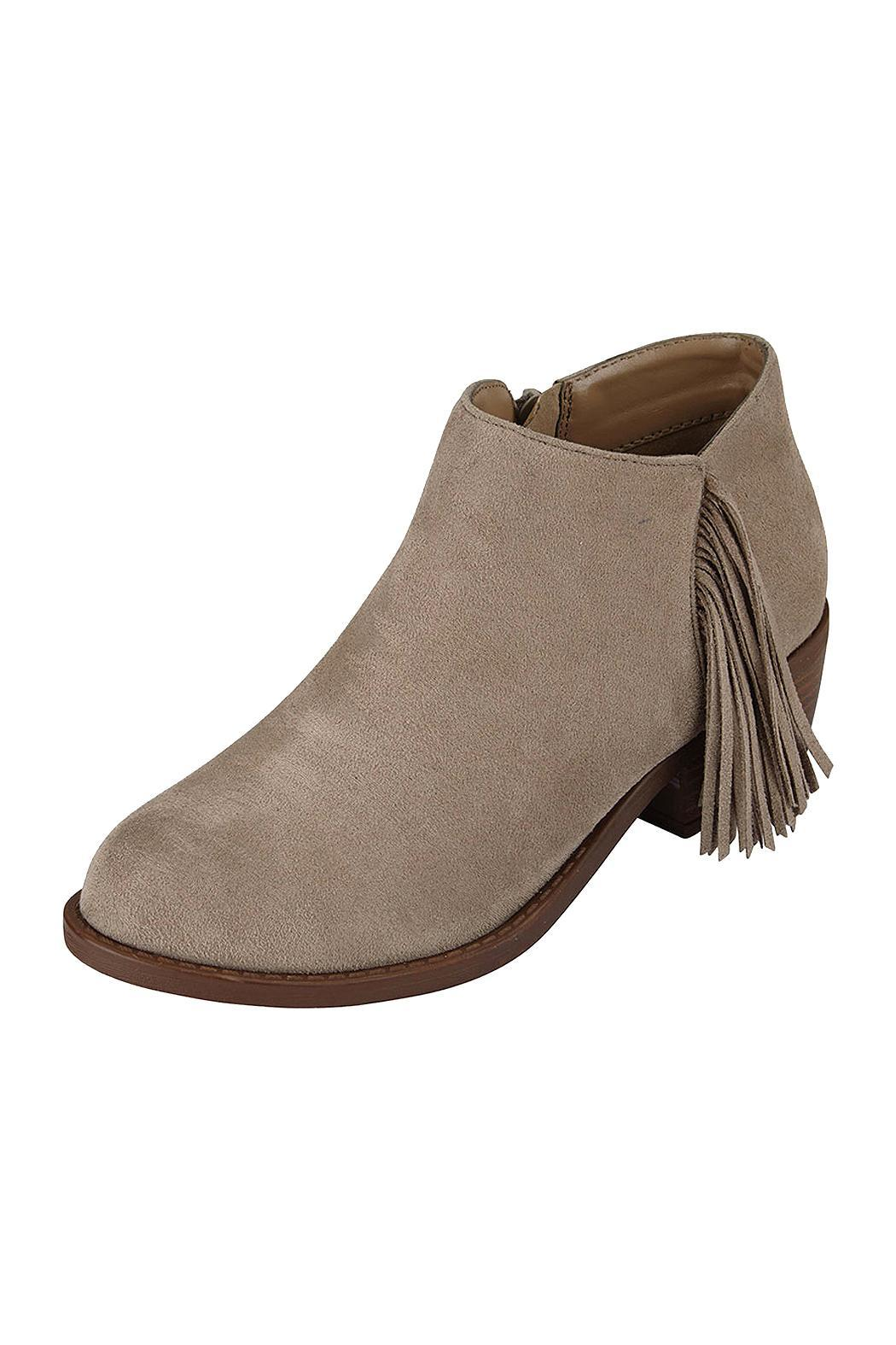 Soda Fringe Ankle Bootie - Front Cropped Image