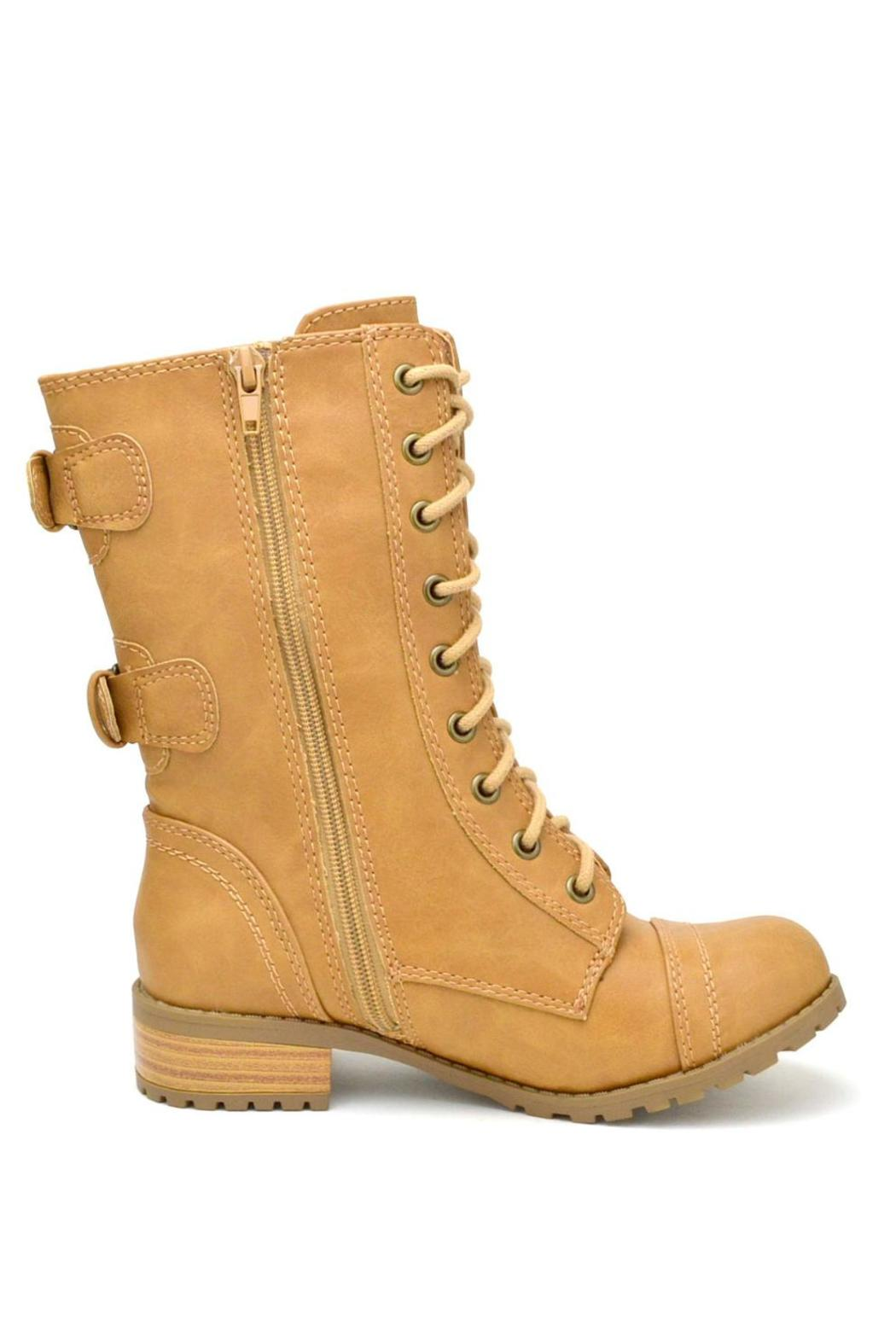 Soda Military Lace-Up  Boot - Side Cropped Image