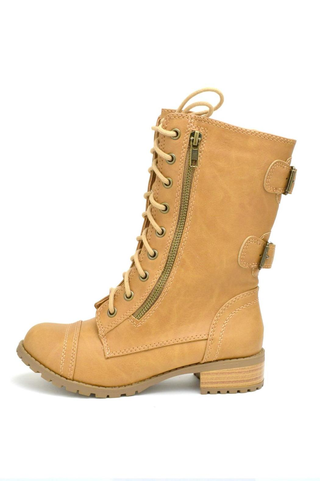 Soda Military Lace-Up  Boot - Main Image