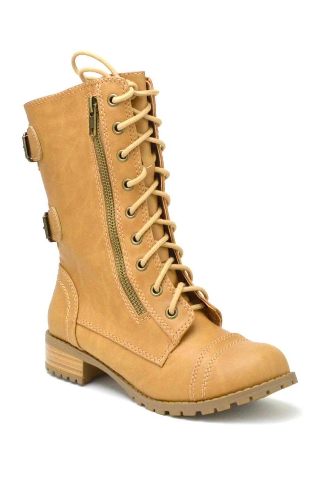 Soda Military Lace-Up  Boot - Front Full Image