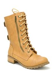 Soda Military Lace-Up  Boot - Front full body