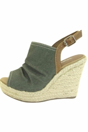 Soda Olive Denim Wedges - Product Mini Image