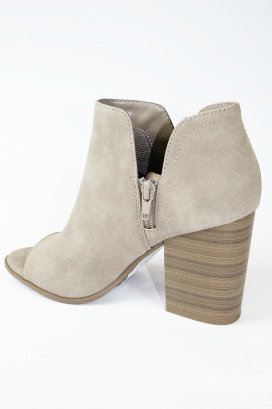 Soda Open Toe Booties - Side Cropped Image