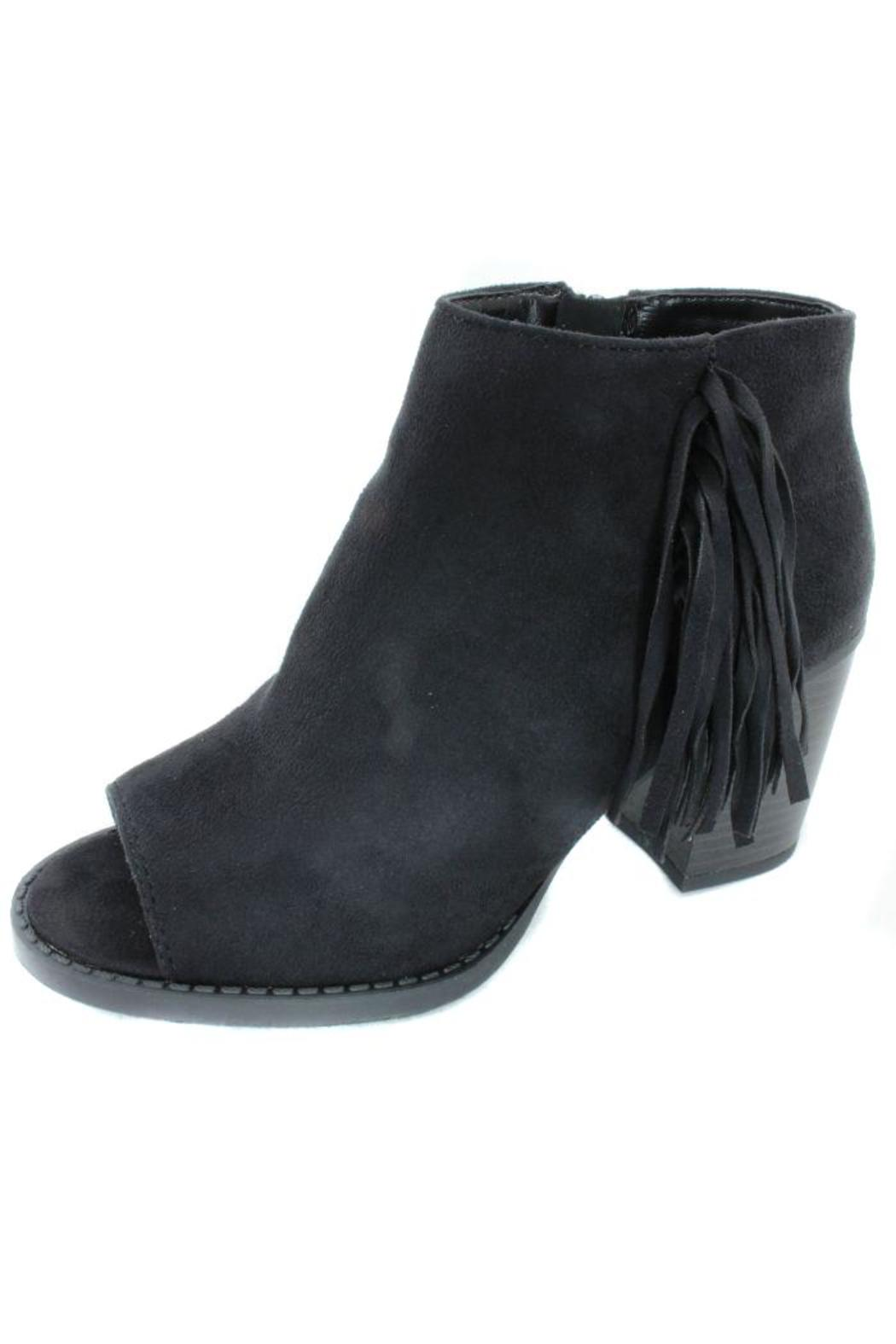 Soda Peep-Toe Fringe Bootie from New Jersey by Making Waves — Shoptiques f1cf6f090689