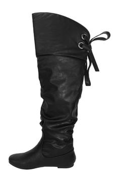 Shoptiques Product: Slouchy Lace-Back Boot
