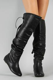 Soda Slouchy Lace-Back Boot - Other