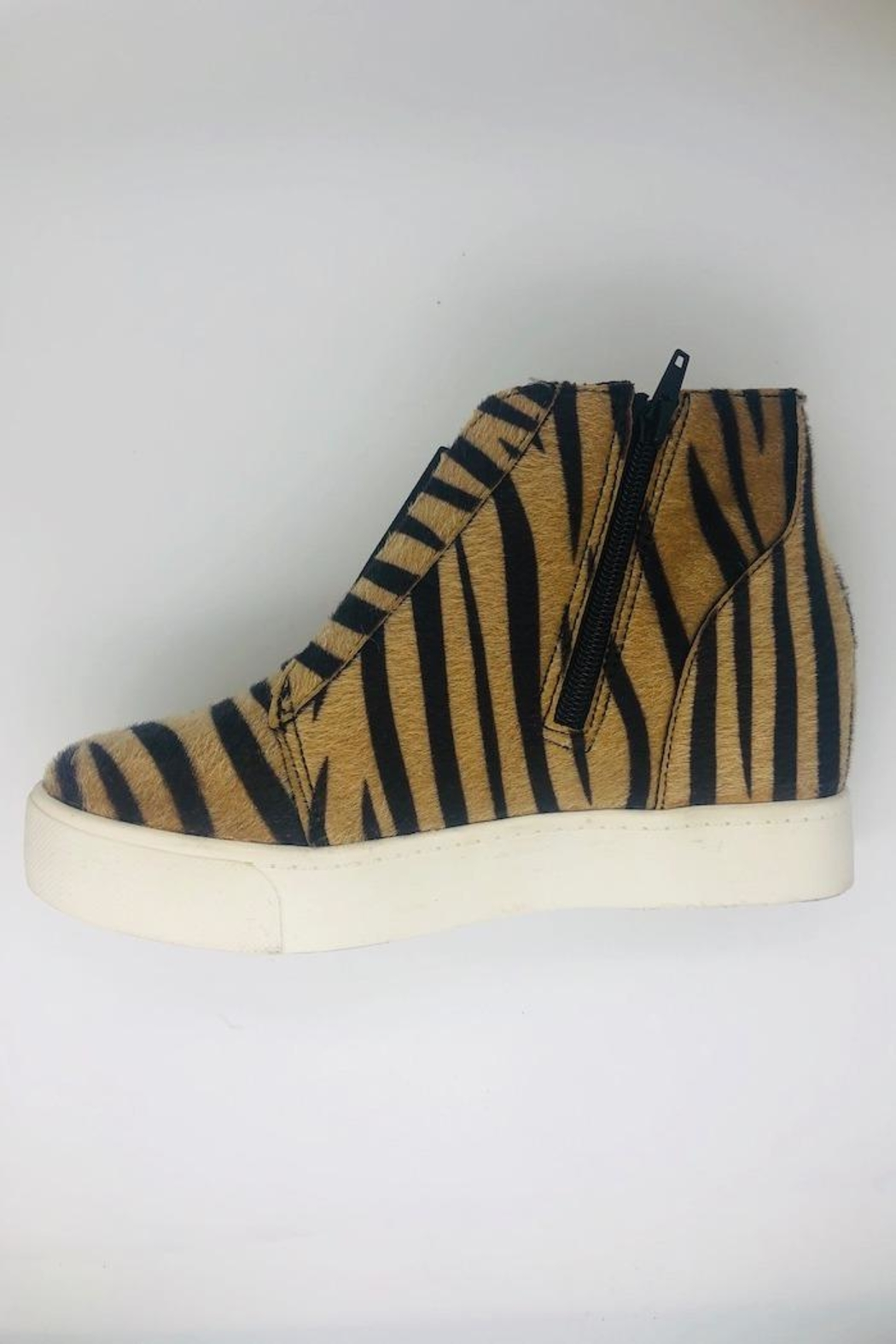 Soda Tiger Wedge Sneakers - Front Full Image