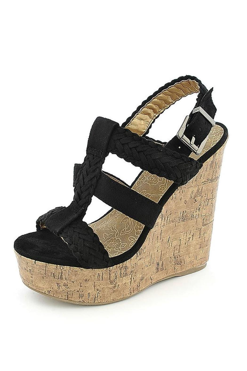 Soda Triple Braided Wedge - Front Cropped Image