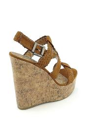 Soda Triple Braided Wedge - Back cropped