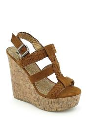 Soda Triple Braided Wedge - Side cropped