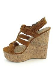 Soda Triple Braided Wedge - Front cropped