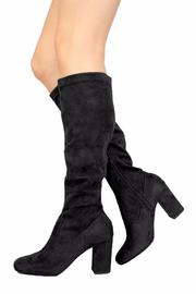 Soda Vegan Suede Boots - Side cropped