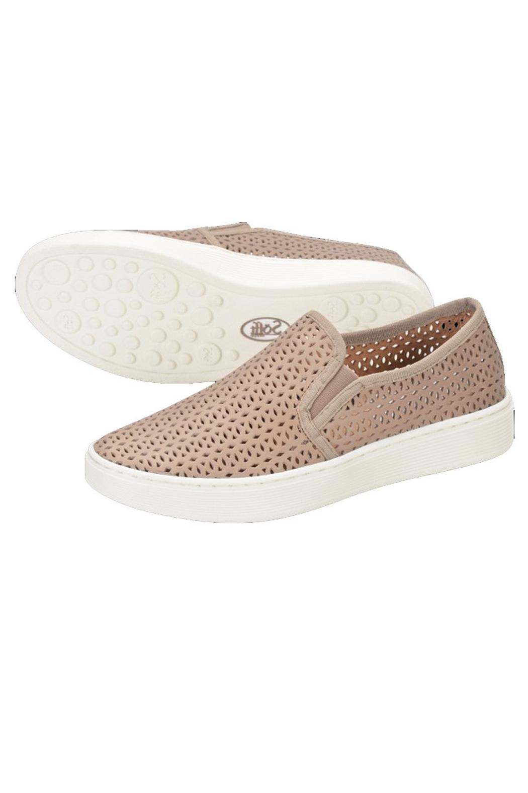 Sofft Beige Perforated Sneaker - Side Cropped Image