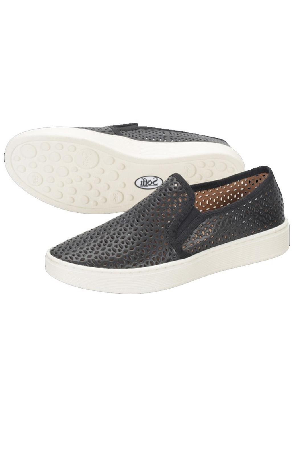 Sofft Black Perforated Sneaker - Side Cropped Image