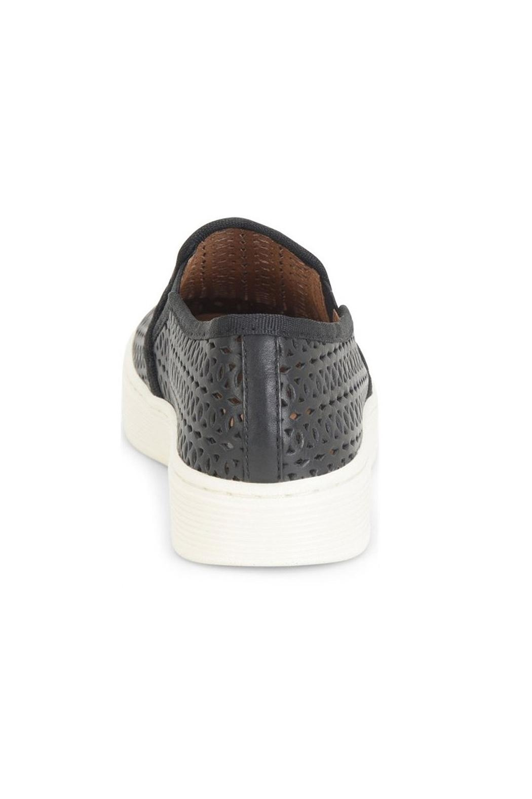 Sofft Black Perforated Sneaker - Front Full Image