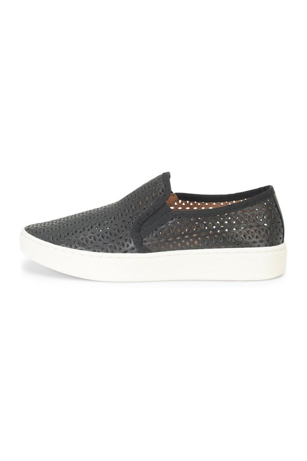 Sofft Black Perforated Sneaker - Main Image