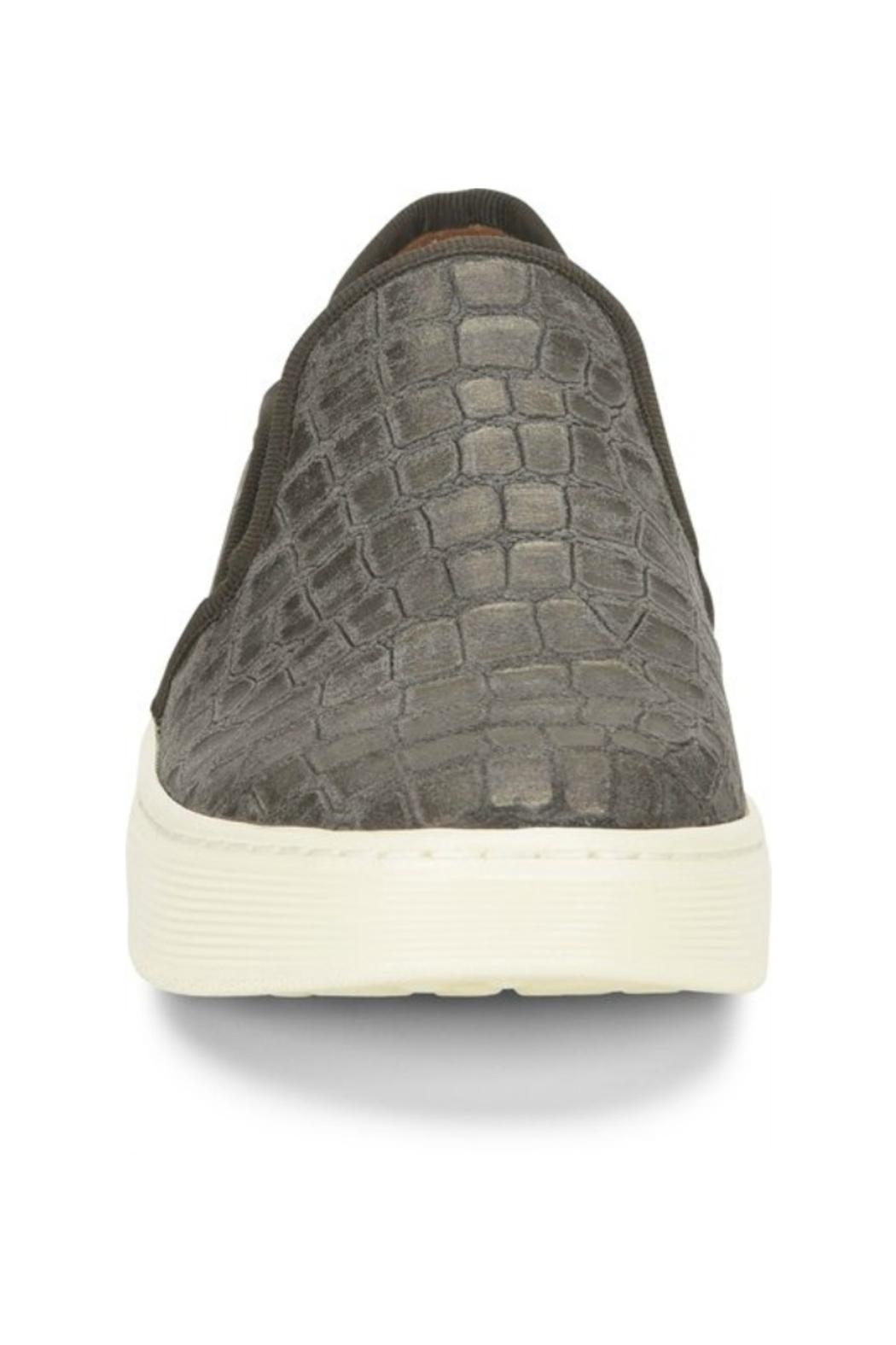 Sofft Somers Slip on in Grey Nubuck - Front Full Image