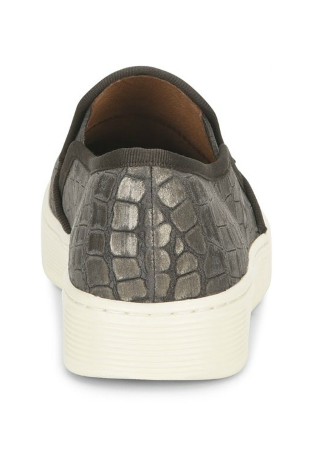Sofft Somers Slip on in Grey Nubuck - Side Cropped Image