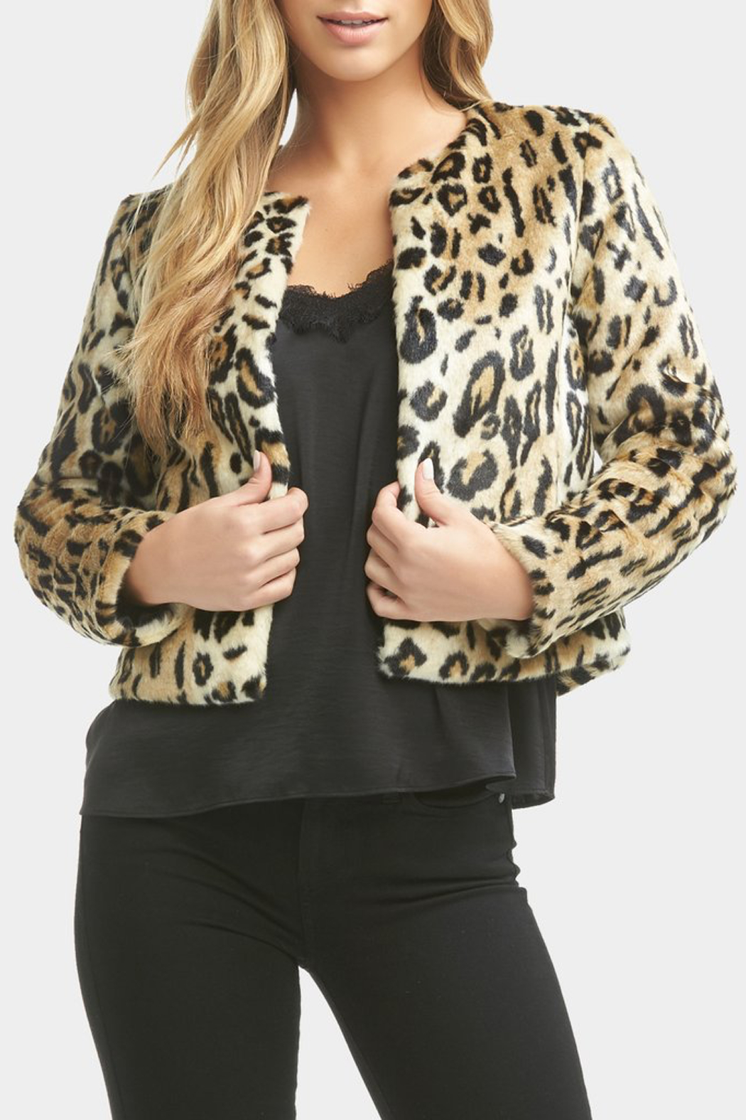 Tart Collections Sofia Faux Leopard Jacket - Side Cropped Image
