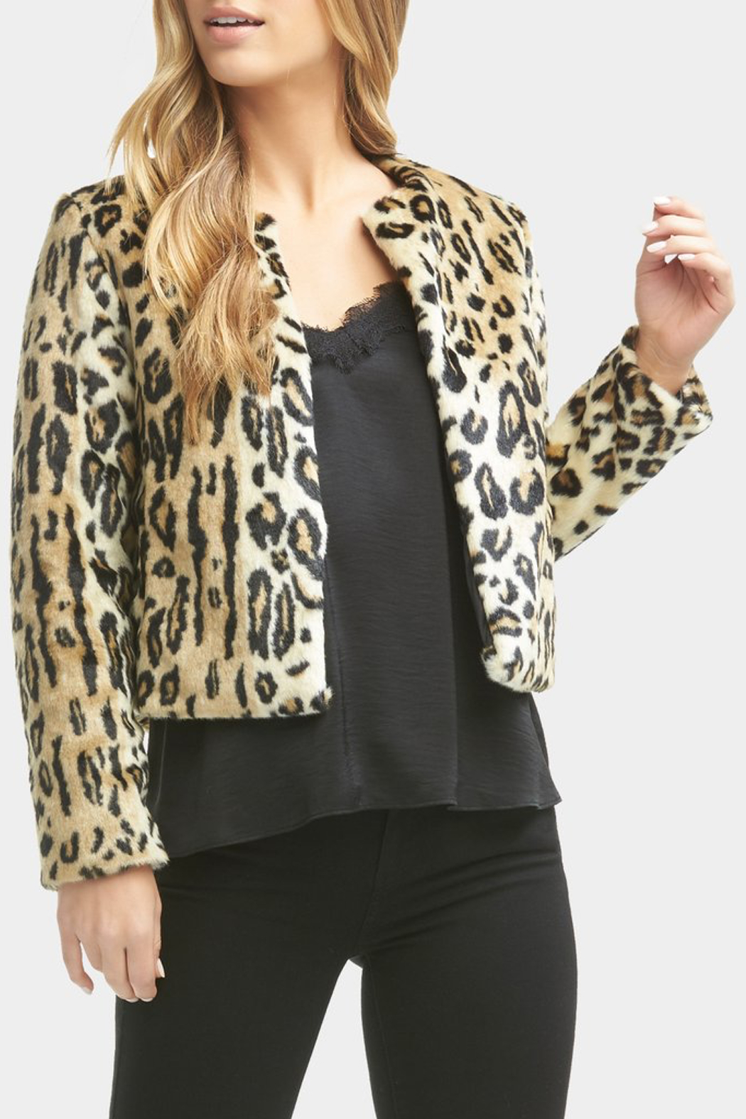 Tart Collections Sofia Faux Leopard Jacket - Front Full Image