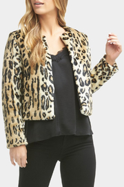 Tart Collections Sofia Faux Leopard Jacket - Front full body