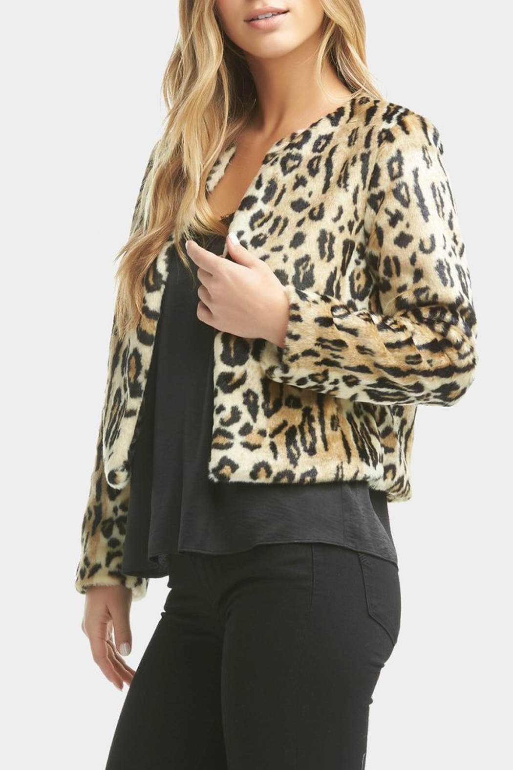 Tart Collections Sofia Faux Leopard Jacket - Main Image