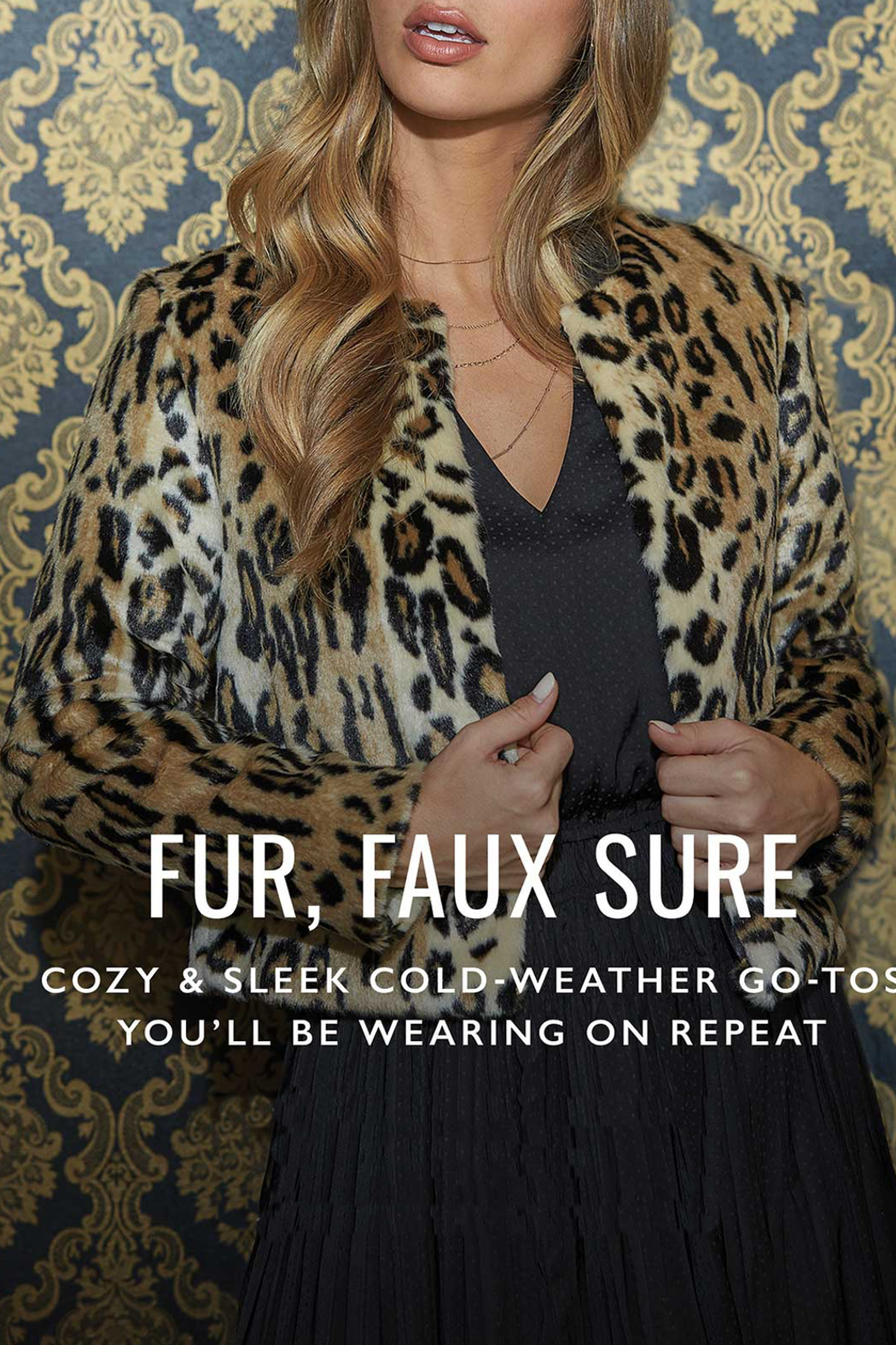 Tart Collections Sofia Faux Leopard Jacket - Back Cropped Image