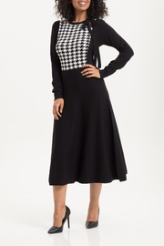 Voodoo Vixen Sofia Houndstooth Knit-Dress - Product Mini Image