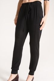 rag poet Soft Black Joggers - Product Mini Image