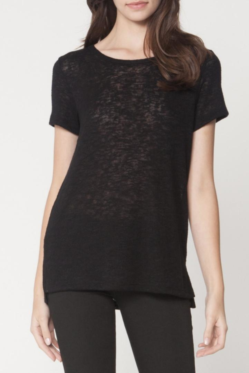 Michelle by Comune Soft Black Tee - Main Image