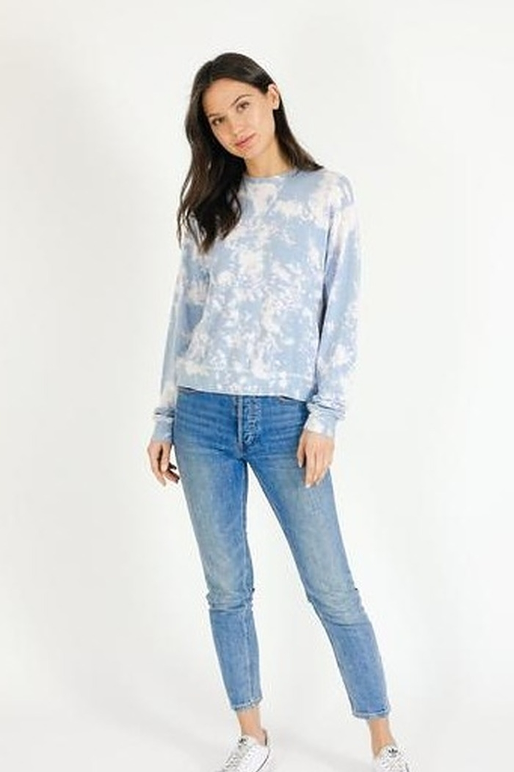 Six Fifty Soft Bleached Pullover Top - Front Full Image